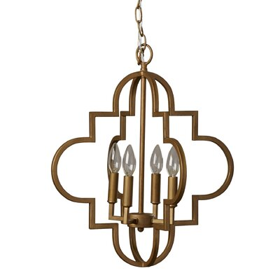Reidar 4-Light Foyer Pendant Finish: Antique Silver, Size: 20.25 H x 18 W