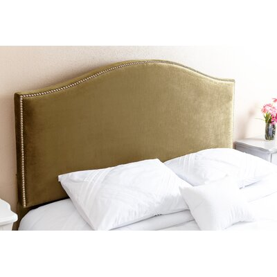 Gibson Queen Upholstered Panel Headboard Upholstery: Olive Green