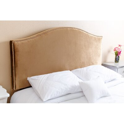 Gibson Queen Upholstered Panel Headboard Upholstery: Gold