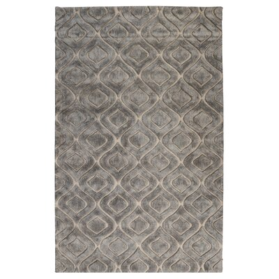 Buntingford Hand-Tufted Smoke Area Rug Rug Size: 5' x 8'