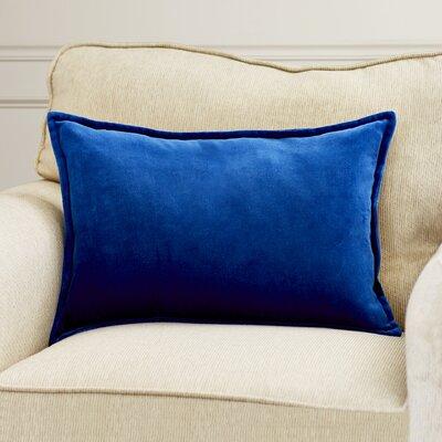 Cotton Lumbar Pillow Color: Cobalt, Filler: Polyester
