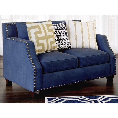 Humphrey Sloped Loveseat Upholstery: Navy
