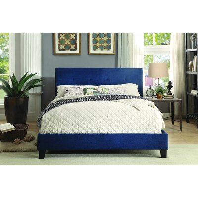 Chalgrave Upholstered Platform Bed Upholstery: Blue, Size: California King