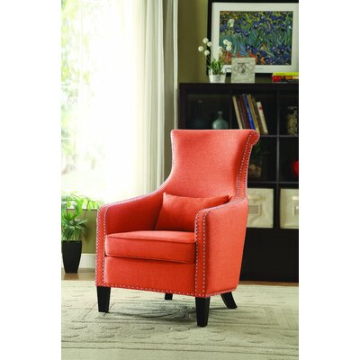 Braschi Armchair Color: Orange