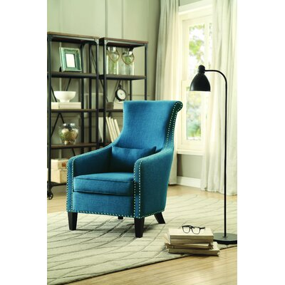 Braschi Armchair Color: Blue