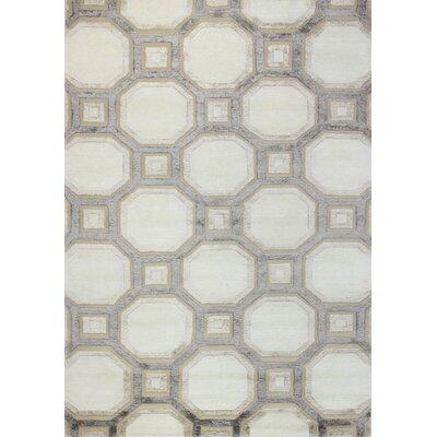Giles Hand-Tufted Ivory Area Rug Rug Size: 79 x 99