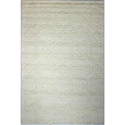 Guadeloupe Hand-Woven Ivory Area Rug Rug Size: 76 x 96