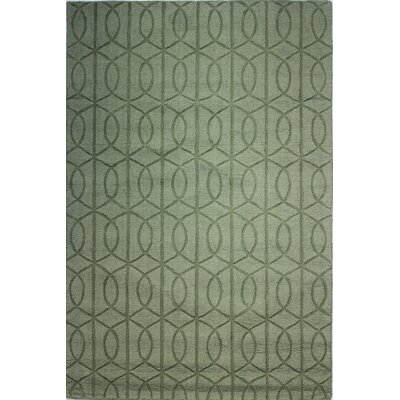 Guadeloupe Hand-Woven Light Green Area Rug Rug Size: 76 x 96