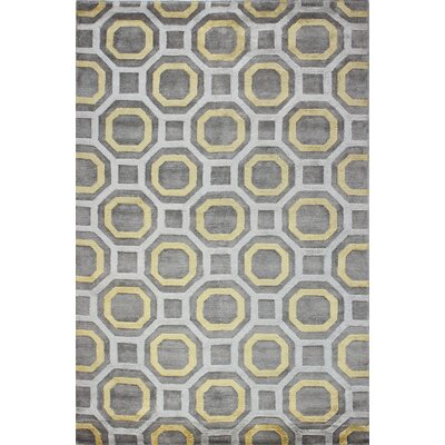 Giles Hand-Tufted Light Pewter Area Rug Rug Size: 39 x 59