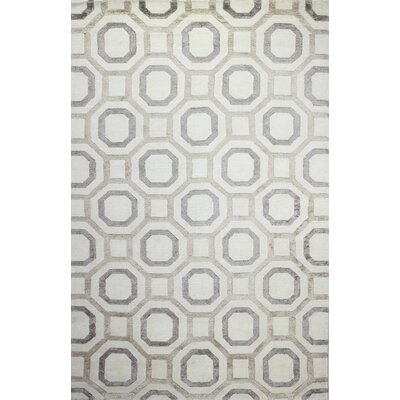 Giles Hand-Tufted Ivory/Beige Area Rug Rug Size: 59 x 89