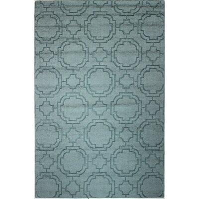 Hannah Hand-Woven Light Blue Area Rug Rug Size: Rectangle 5 x 76