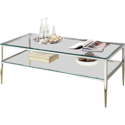 Gettys Open Shelf Coffee Table Color: Chrome