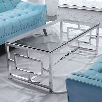 Rohrbach Coffee Table Base Finish: Stainless Steel