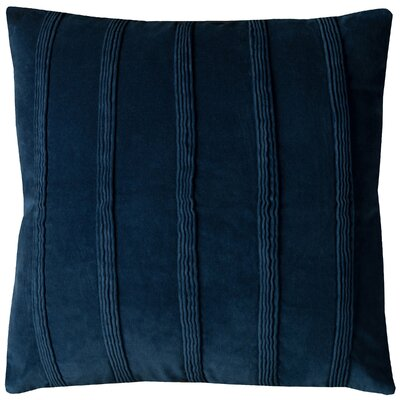 Bard Velvet Pillow Cover Color: Navy