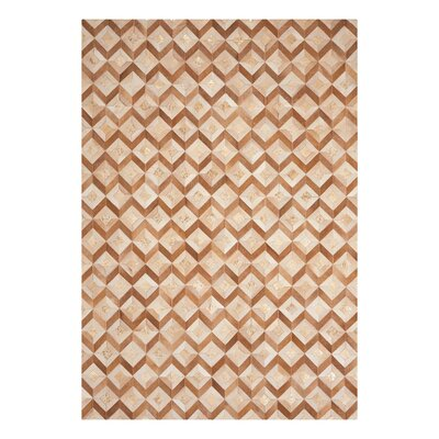 Deborah Handmade Toffee Area Rug Rug Size: Rectangle 53 x 75