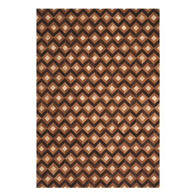 Dennis Handmade Chestnut Area Rug Rug Size: Rectangle 53 x 75