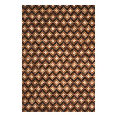 Dennis Handmade Chestnut Area Rug Rug Size: 53 x 75