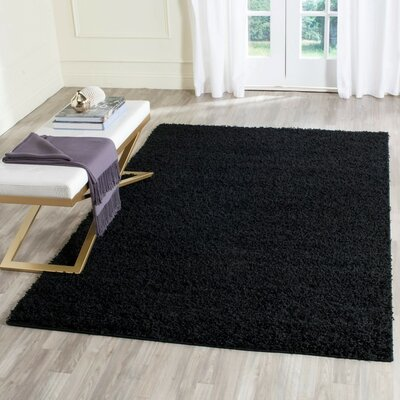 Cheney Black Area Rug Rug Size: Rectangle 4 x 6
