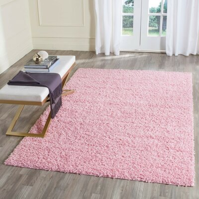 One-of-a-Kind Cheney Hand Woven Pink Area Rug Rug Size: Rectangle 8 x 10