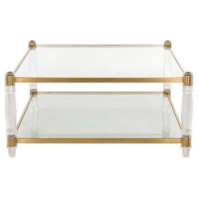 Dinah Coffee Table Finish: Clear/Brass