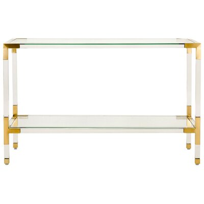 Mcdowell Console Table Finish: Gold