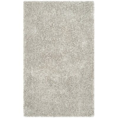 Aston Hand-Tufted Light Gray Area Rug Rug Size: 3 x 5