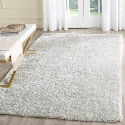 Aston Hand-Tufted Light Gray Area Rug Rug Size: 6 x 9