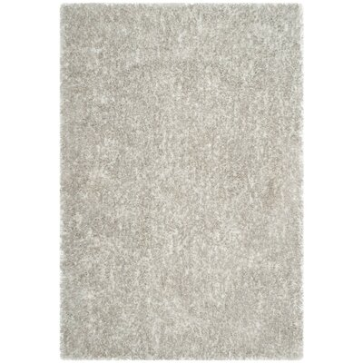 Aston Hand-Tufted Light Gray Area Rug Rug Size: 4 x 6