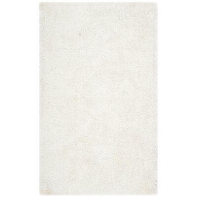 Aston Hand-Tufted Cream Area Rug Rug Size: Rectangle 3 x 5