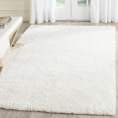 Aston Hand-Tufted Cream Area Rug Rug Size: 8 x 10