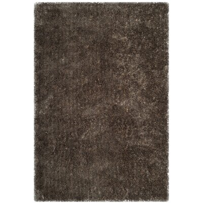 Chapman Hand-Tufted Brown Area Rug Rug Size: 4 x 6