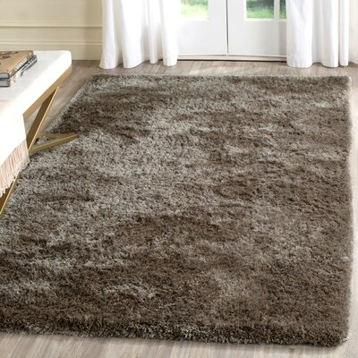 Chapman Hand-Tufted Brown Area Rug Rug Size: 5 x 8