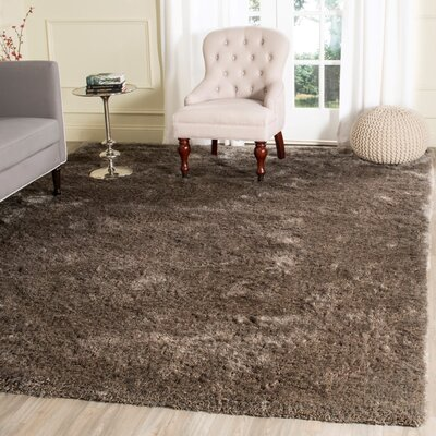 Chapman Hand-Tufted Brown Area Rug Rug Size: 8 x 10