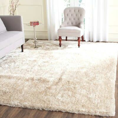 Chapman Hand-Tufted Beige Area Rug Rug Size: Rectangle 8 x 10