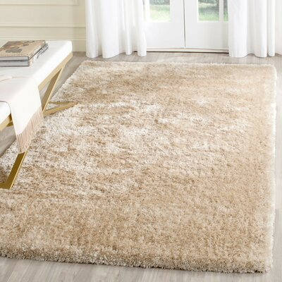 Chapman Hand-Tufted Beige Area Rug Rug Size: Rectangle 3 x 5