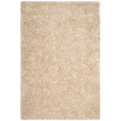 Chapman Hand-Tufted Beige Area Rug Rug Size: 4 x 6