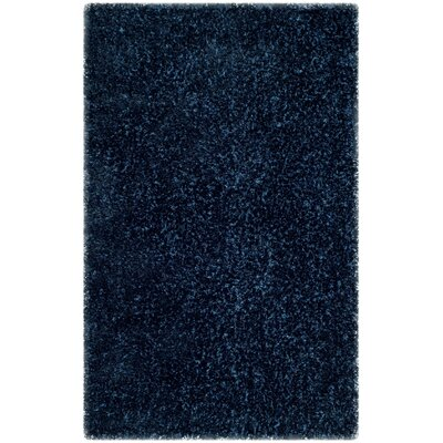 Aston Hand-Tufted Navy Area Rug Rug Size: 3 x 5