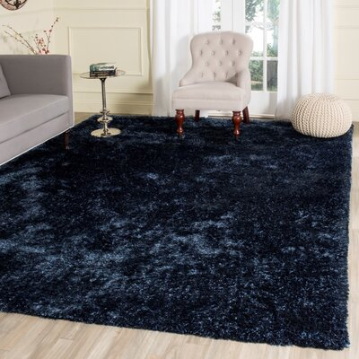 Aston Hand-Tufted Navy Area Rug Rug Size: 8 x 10