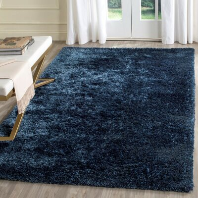 Aston Hand-Tufted Navy Area Rug Rug Size: Rectangle 4 x 6