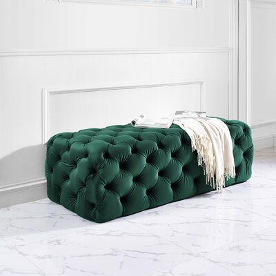 Alfhild Cocktail Ottoman Color: Green