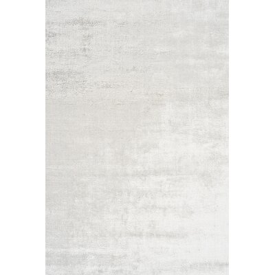 Janet Hand-Woven Gray Area Rug Rug Size: 83 x 116