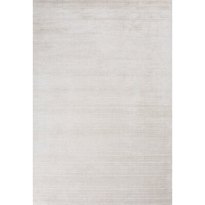 Janet Hand-Woven Beige Area Rug Rug Size: 57 x 79
