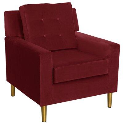 Calhern Arm Chair Color: Berry