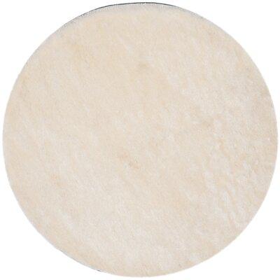 Oakdene Ivory Area Rug Rug Size: Round 5