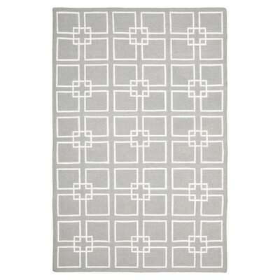 Dance Flat Weave Cement Gray Area Rug Rug Size: 9 x 12