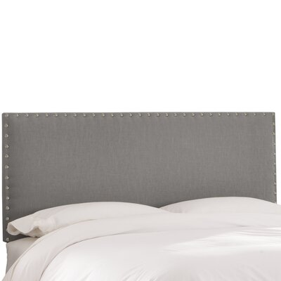 Upholstered Panel Headboard Size: Full, Upholstery: Grey