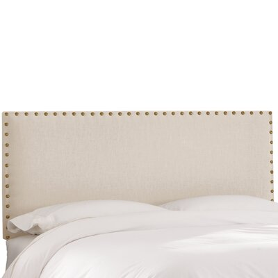 Upholstered Panel Headboard Size: Full, Upholstery: Talc