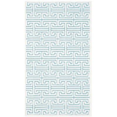 Maspeth Ivory/Turquoise Area Rug Rug Size: 3 x 5