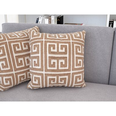 Waverly Chy Poly Throw Pillow Color: Old Gold