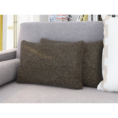 Mariela Lumbar Pillow Color: Light Silver